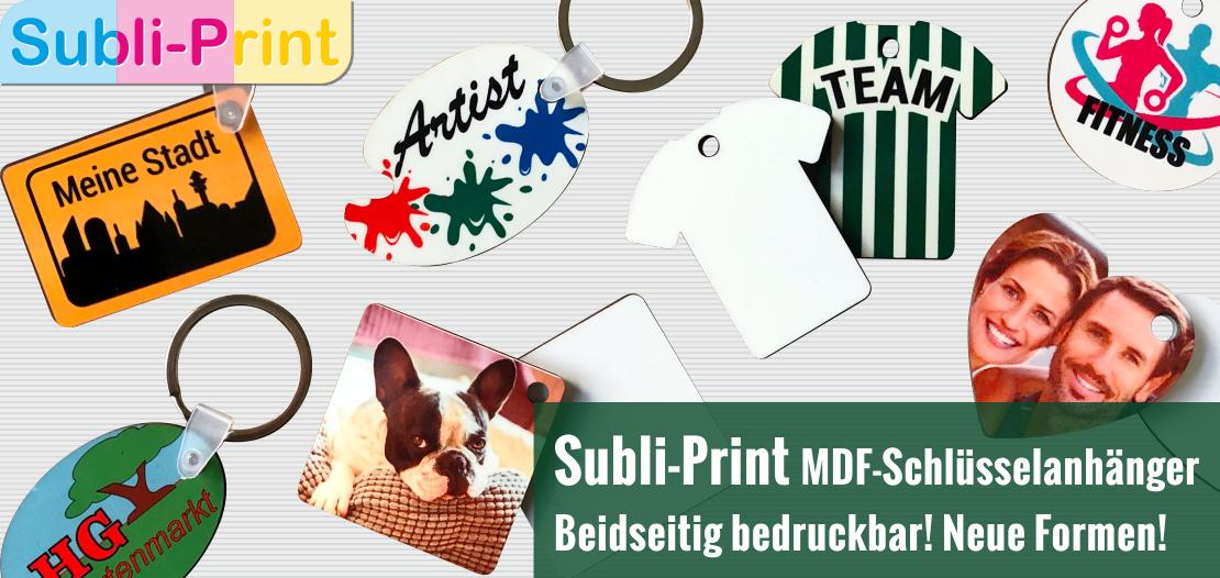 Neue Subli-Print MDF-Schlüsselanhänger