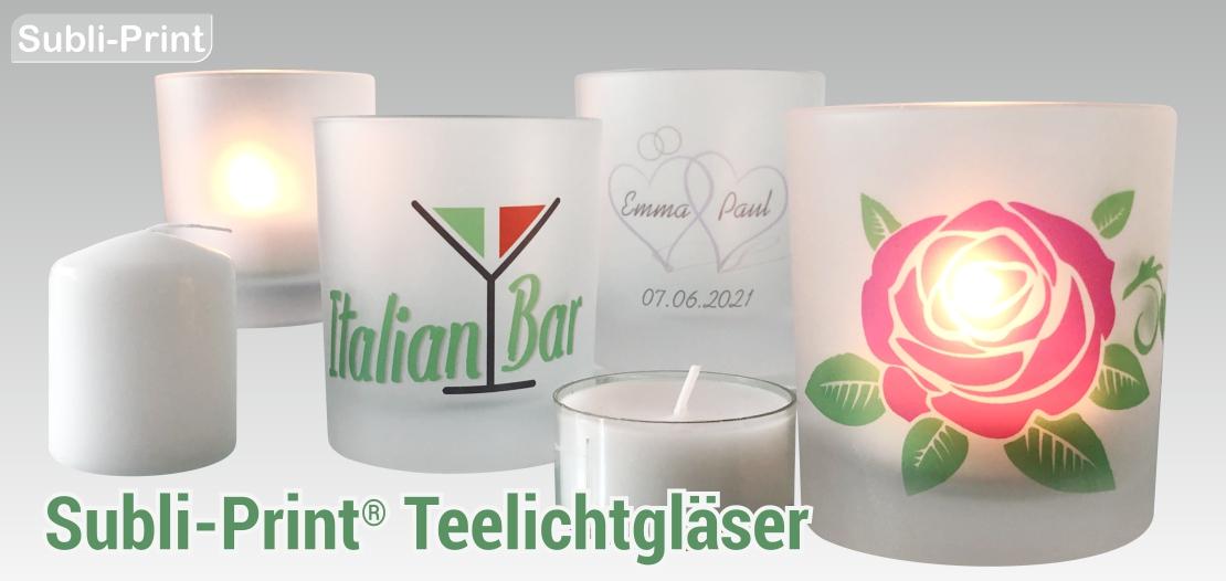 Subli-Print Teelichtgläser