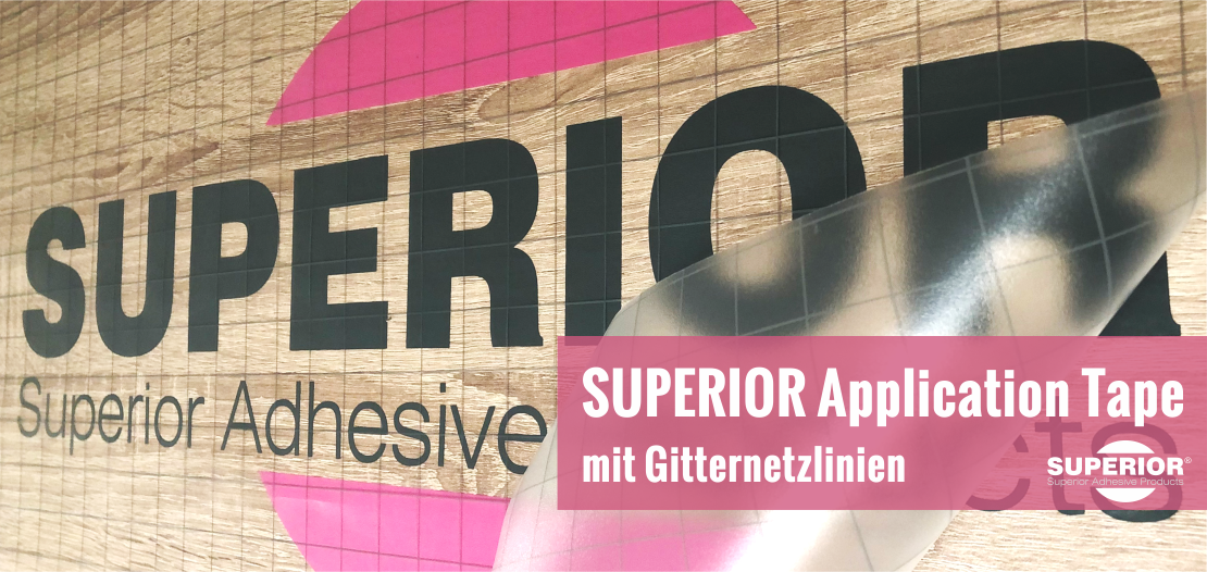 SUPERIOR Application Tape mit Gitternetzlinien