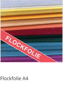 Flockfolie Formatware A4