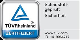 Schadstoffgeprüft TÜV Rheinland